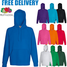 Fruit of the Loom Sudadera Con Capucha Capucha Liso Claro Suéter COLORES s-2xl