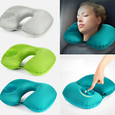 Inflatable U Shaped Travel Pillow Neck Support Head Rest Airplane Cushion