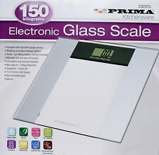 150KG DIGITAL ELECTRONIC LCD BATHROOM WEIGHING SCALE GLASS WEIGHT SCALES