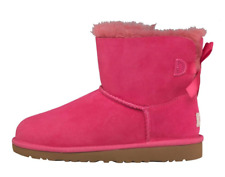 Girls Designer Genuine UGG Australia Boots - Mini Bailey Bow Pink BNIB Gift