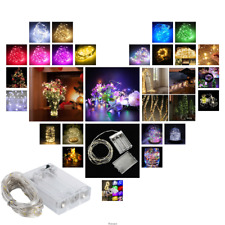 1M 4M LED String Copper Wire Fairy Lights Battery Powered Waterproof 10 40LEDs
