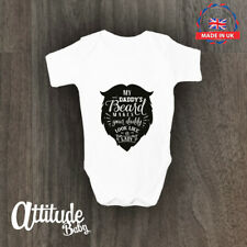 My daddy's beard makes your daddy look like a lady Babygrow Funny Baby Vest