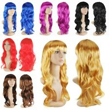 Women's Sexy Long Curly Fancy Dress Full Wigs Cosplay Costume Wig Party UK STOCK