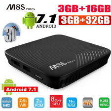 ​​M8S PRO L 2GB/3GB 16GB/32GB Android 7.1 Smart TV Box 8-Core Dual WIFI 4K 1080P