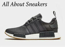 """Adidas NMD R1 """"GREY FIVE / GREY FIVE / CORE BLAC' Men's Trainers All Size 062101"""