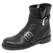 E6578 biker donna black JIMMY CHOO stivale scarpe borchie boot shoe woman