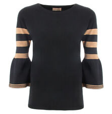 Scee Twinset camiseta negra y viscosa SS83DC para mujer Scee by Twin set SS83DCN