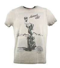 Camiseta vintage gris hombre con estampado Take a way SURFASH