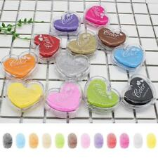 Heart Rubber Stamps Craft Pigment Ink Pad For Paper Wood Fabric 12 Colours G2S7