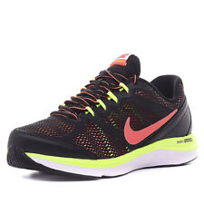 Girls Nike Dual Fusion Run 3 Black/Pink Running Trainers Sports Shoes Size
