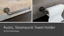 DIY Industrial Pipe Paper Towel Holder urban steampunk rustic decor free shippin