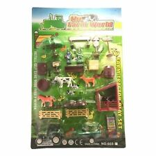 KIDS FARM TOY SET PLASTIC PLAY SET ANIMALS TRACTOR FIGURES CHILDRENS SMALL NEW
