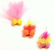 3 BOOBY Flies Tequila Sunrise Woofter Candyman Attractor Trout Fly Fishing#10,12