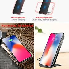 Baseus Qi Wireless Charging Pad Stand Fast Charger For iPhone X 8 Samsung S8 FC