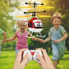Induction Flying Toy RC Helicopter Cartoon Remote Control Drone Kid Plane Toy GR