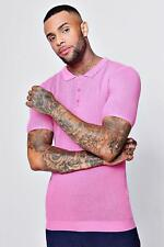 Boohoo Mens Short Sleeve Knitted Polo