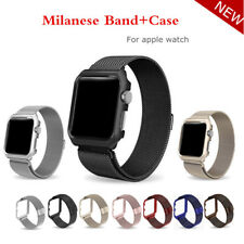 Milanese Loop strap+case For  Watch band 42mm/38mm Link Bracelet Stainless St...