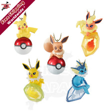 BANDAI Pokemon Twinkle Dolly Collectable Keychain Eevee evolution figure charms!