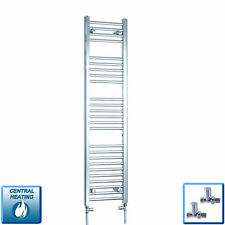 Central Heating Towel Rail Rad Chrome Bathroom Radiator 300mm (w) x 1400mm (h) *