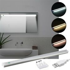 37CM 5W DIMMABLE USB LED RIGID STRIP HARD BAR LIGHT TUBE MIRROR LAMP + TOUCH