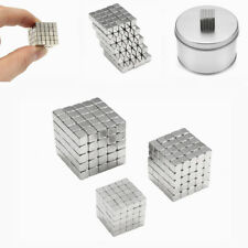 3/4/5MM 125PCS MAGNETIC CUBE TIN BOX MAGNET BALLS MAGIC SQUARE 3D PUZZLE TOY
