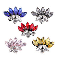 DIY Flower Patches Applique Glass Rhinestone Sequins for Jacket Hats Decor