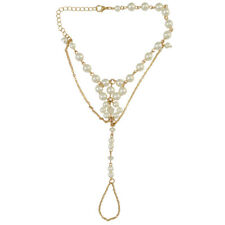 Charm Foot Chain Faux Pearl Barefoot Sandals Beach Anklet Jewelry Wedding