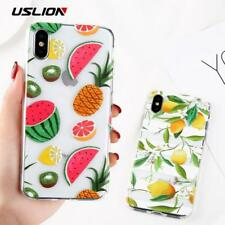 USLION Clear Phone Case For iPhone 6 6S Plus Flower Cases For iPhone X 7 8 Plus