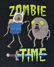 "Adventure Time con Finn & Jake "" Zombie Time "" Uomo T-Shirt LICENZA UFFICIALE"