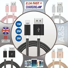 1M 2M 3M Lightning Fast Charger Data Sync Cable Lead For IPhone 5 5S 6 6S 7 8 X