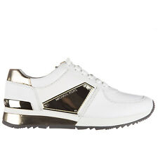 MICHAEL KORS SCARPE SNEAKERS DONNA IN PELLE NUOVE ALLIE BIANCO C42