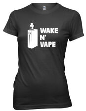 Wake N' Vape Funny Womens Ladies T-Shirt