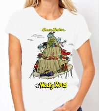 Hanna Barbera Wacky Races Classic Kids TV Ladies T Shirt
