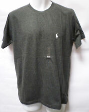 Ralph Lauren Polo Mens Custom Fit Small Pony Crew Neck T-Shirt Tee Top Grey New