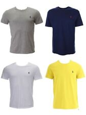 Ralph Lauren Polo Mens Custom Fit Small Pony Crew Neck T-Shirt Tee Top Blue - L