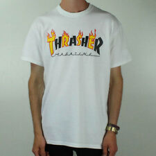 Thrasher Flame Logo T-Shirt Tee – White Brand New in size S,M,L,XL