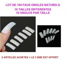 100 CAPSULES PRO TIPS NATUREL FAUX ONGLE GEL UV VERNIS FRENCH MANUCURE ONG630