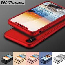 Hybrid 360° Hard Thin Case Tempered Glass Cover For iPhone X 8 8Plus 7 & 7 Plus