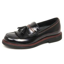 E7878 mocassino uomo black TOD'S scarpe shiny leather loafer shoe man