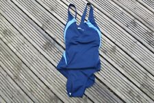 "Speedo  SWIMSUIT 1 piece ELEVATE X BACK WOMENS LADIES  BLUE 34""   SWIM SUIT"