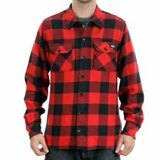 Dickies Apparel Sacramento Red Flannel Skate Streetwear Lifestyle Shirt New