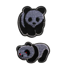 DIY Sewing Cloth Patch Embroidered Badge Embroidery Applique Iron On Panda