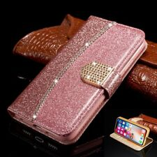 Coque Housse Bling Strass Wallet Portefeuille Stand Etui Pour iPhone X 8 7 Plus