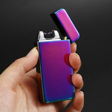 Dual Arc Electric USB Lighter Rechargeable Windproof Flameless Cigarette lot