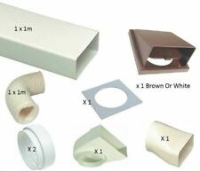 """2m Cooker Hood Straight Ducting Kit 6"""" 150mm White or Brown Vent - Extractor"""