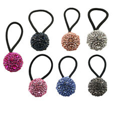 Fashion Crystal Women Scrunchie Elastic Hair Ties Rope Ponytail Holder Scrunchy