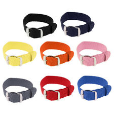 Stainless Steel Pin Buckle Sports Wristwatch Band 20mm Textile Watch Bangle