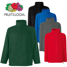 Fruit of the Loom Hombre Chaqueta Polar media cremallera Jersey Bolsillos