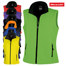RISULTATO Donna Gilet Softshell Sleevelees Giacca in pile impermeabile NUOVO