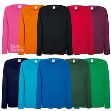 FRUIT OF THE LOOM DONNA RAGLAN Felpa da donna leggero PILE FELPA